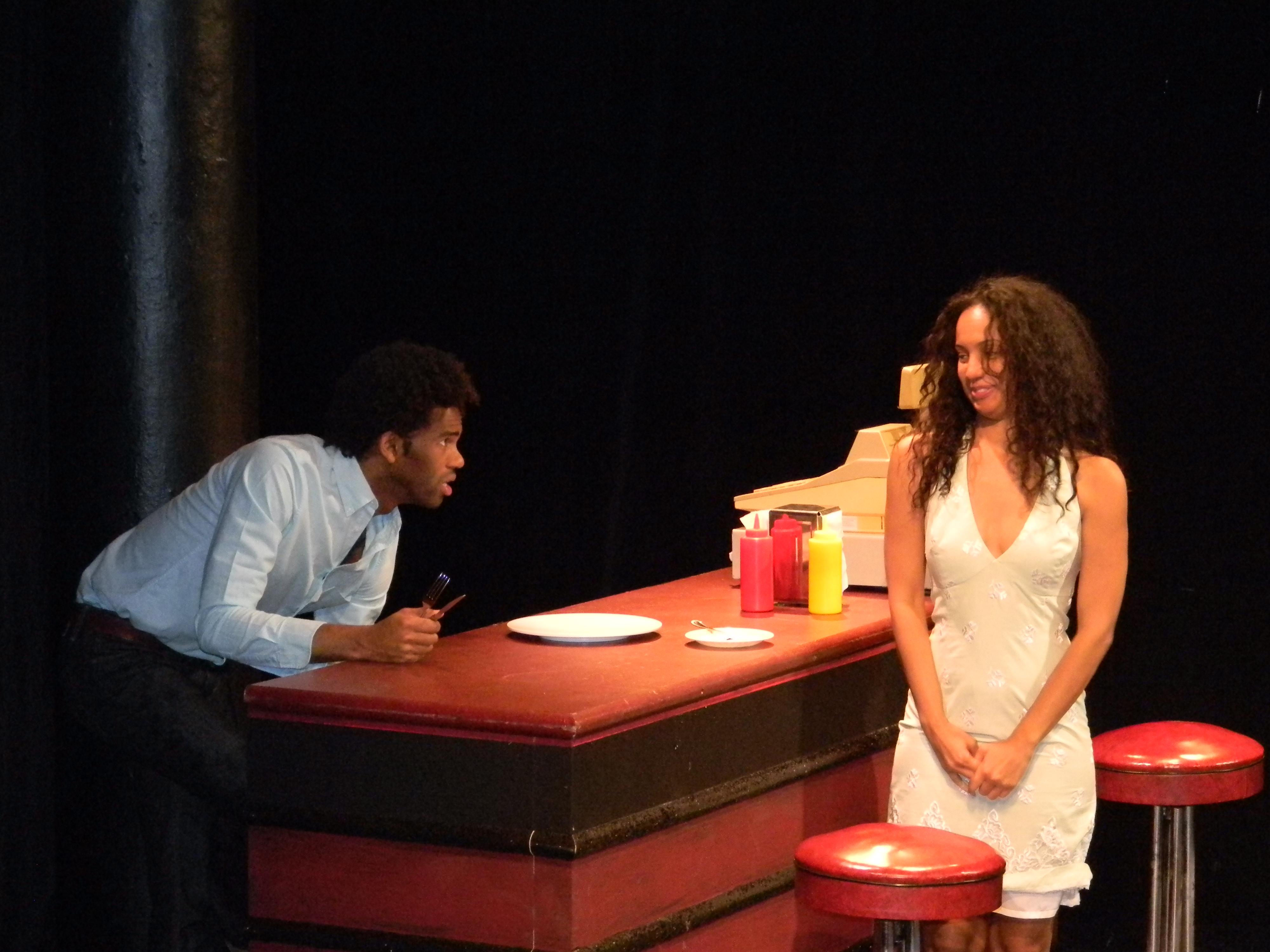 (Left to Right): Corey Wright as DAKOTA; Salina Duplessis as KAITLYN