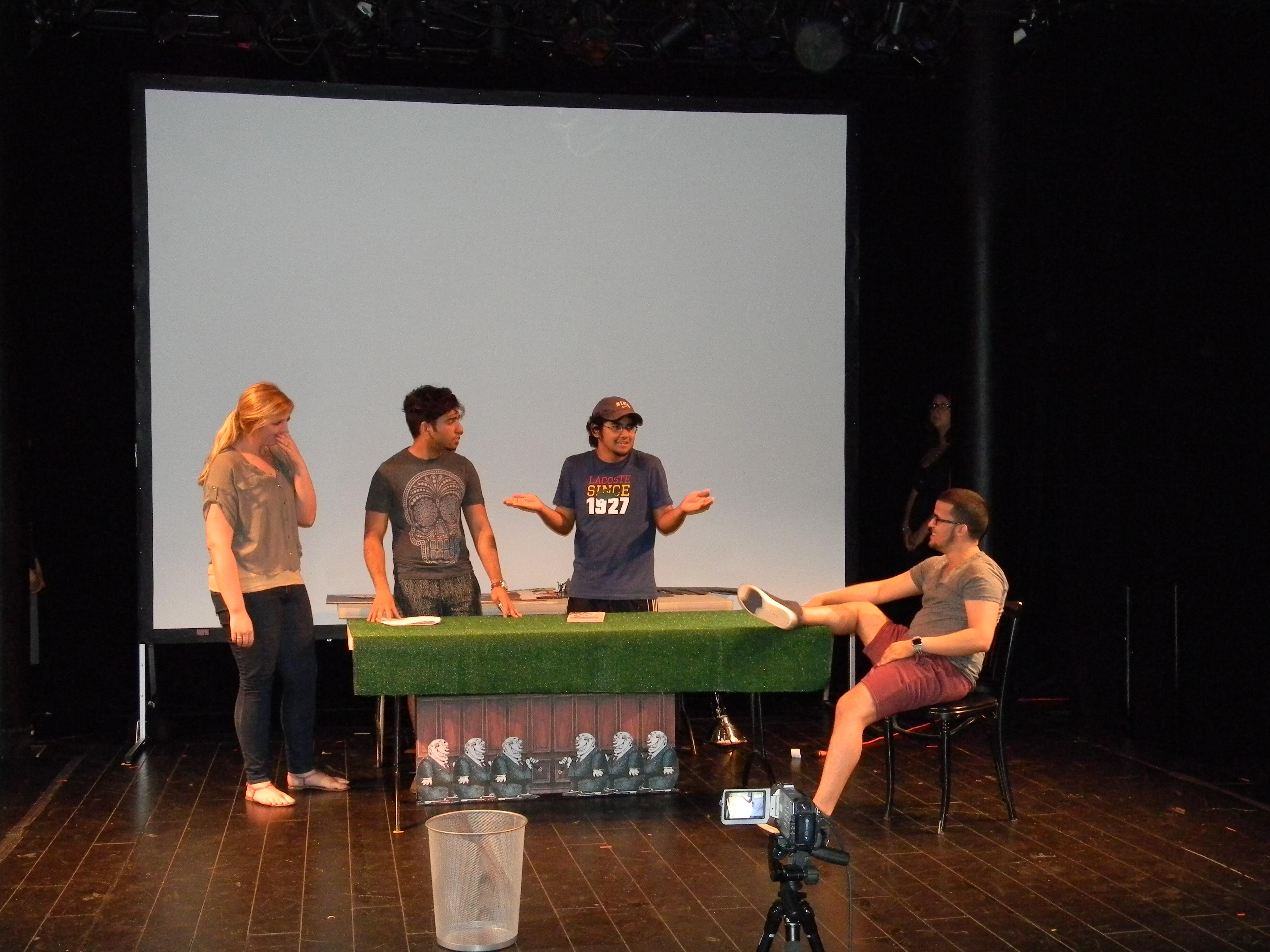 (Left to Right): Brittany Caruso; Germainne Lebron; Cesar Valderrama; Edwin Polanco