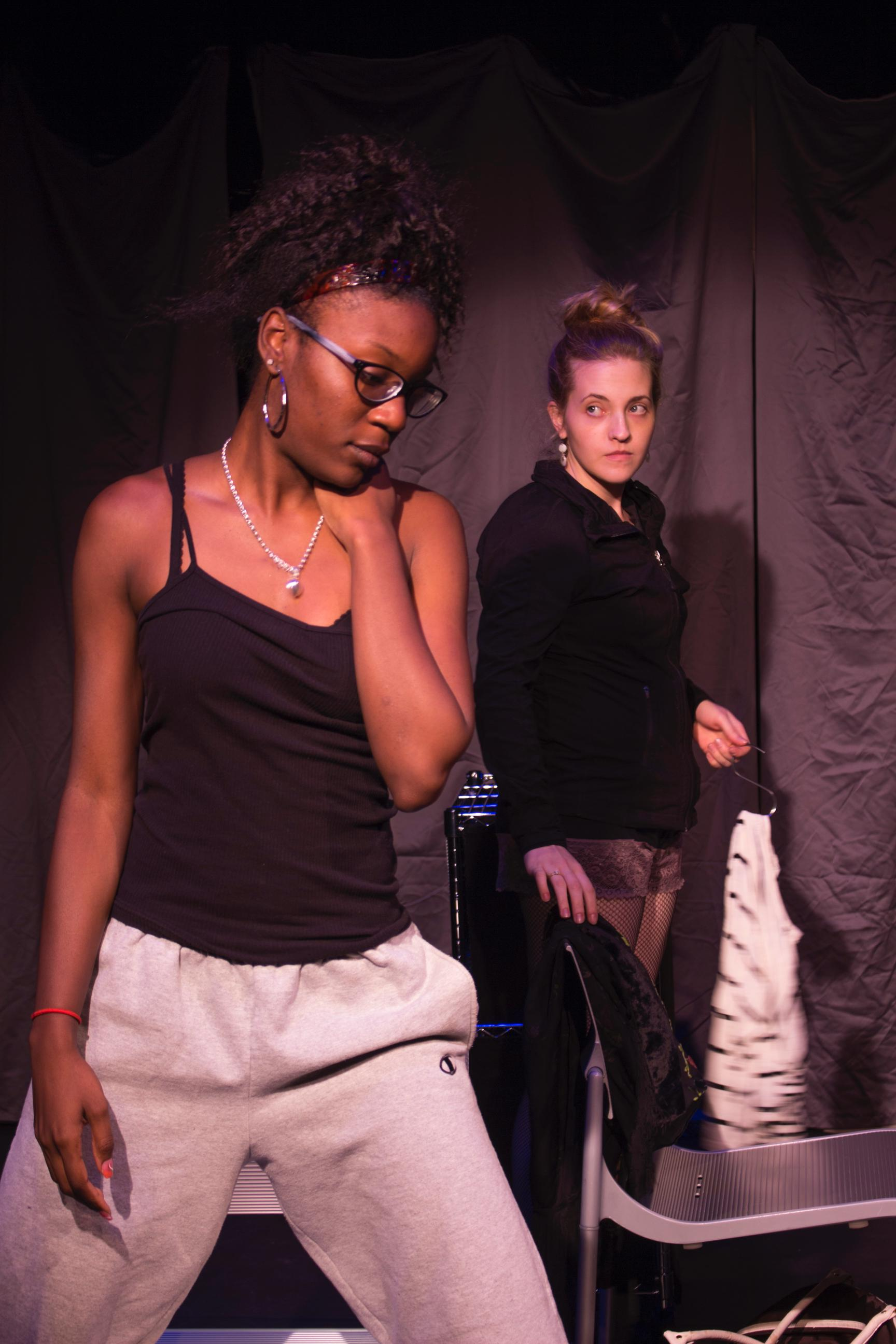 Paris Scott as VERONICA and Amanda Klinikowski as CANDY