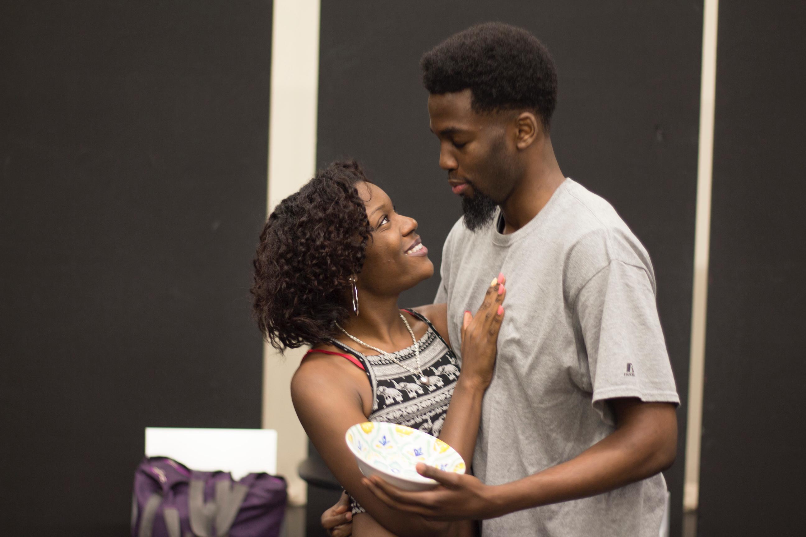 Paris Scott as VERONICA and Phillip Iweriebor as MICHAEL